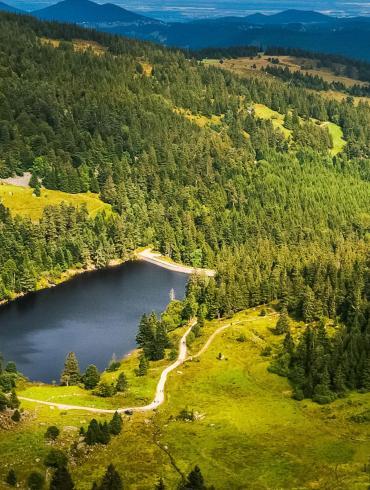 Lac des truites depuis les hauteurs